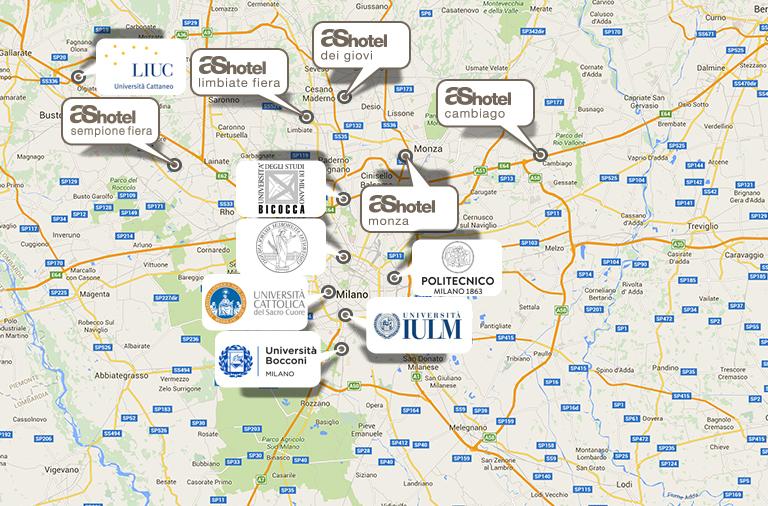 Hotel per i test d\'ingresso delle Università di Milano | AS Hotels